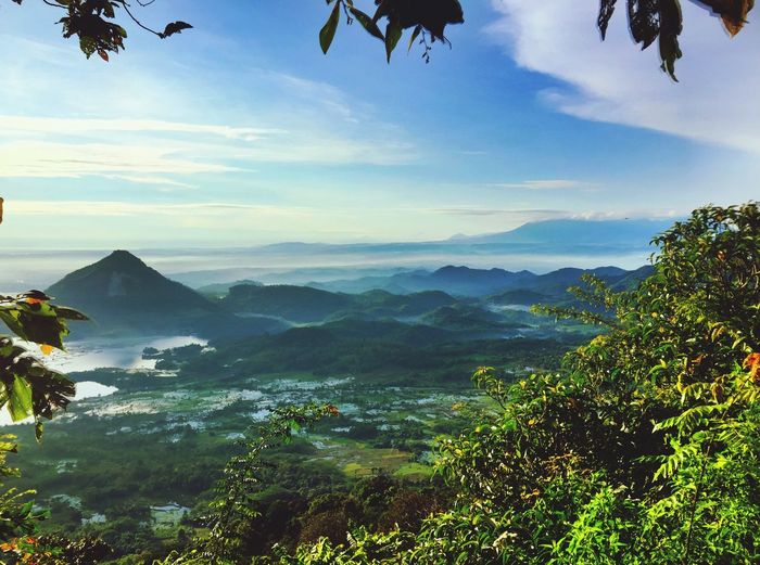 View from Mount Lembu Mountain View Purwakarta INDONESIA