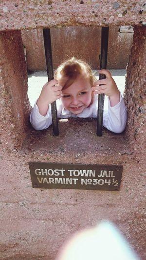 Knots berry farm, jail, smile. Fun, Child One Person People Portrait