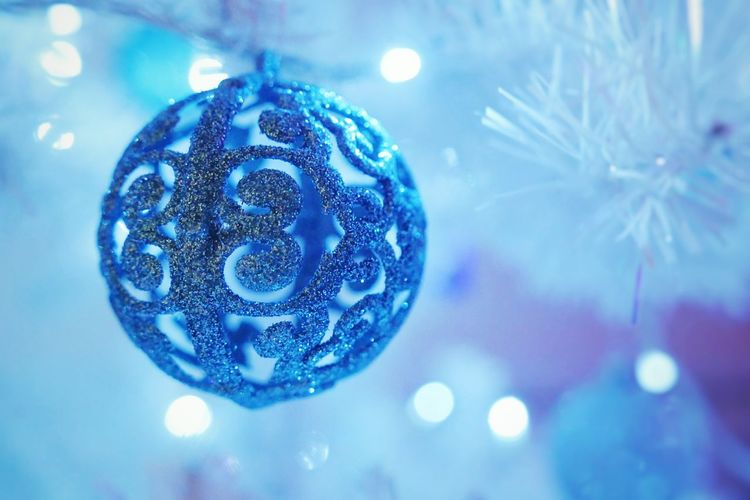 Christmas Close-up Christmas Decoration Christmas Ornament Blue Christmas No People Snowflake Nature Baubles Bauble First Eyeem Photo