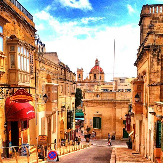 Architecture Cathedral Għawdex Malta Streets Building Line Gozo Island Landscape Outdoors Paradise