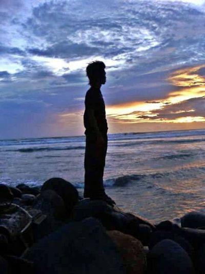 Sunset Pantai Panjang Bengkulu INDONESIA