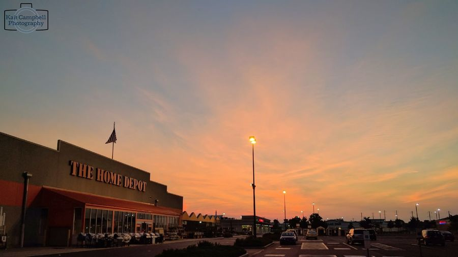Sunrise at the Home Depot Building Exterior Outdoors Sky