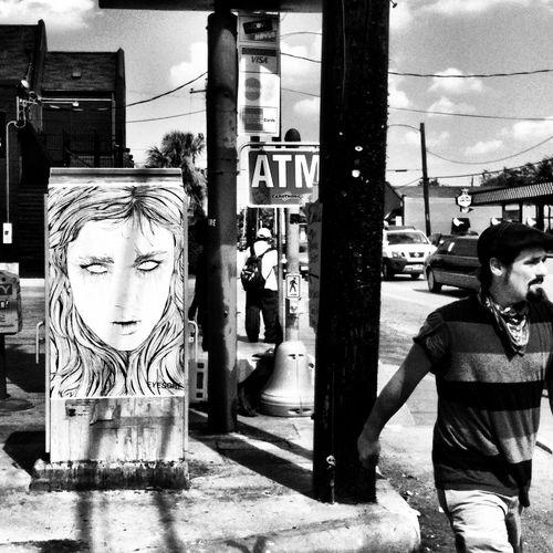 streetart at Cafe Brasil Streetart
