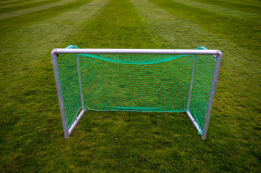 Football Goal Football Football Goal Football Goal Net Grass Green Color Nature Color Football Field Football Game Football Gate Fotball Fotball Field Front View Net No People One Object Outdoors Simplicity Sport Sport Equipment