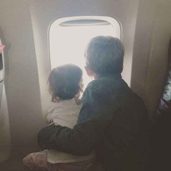 From An Airplane Window Kids Hello World