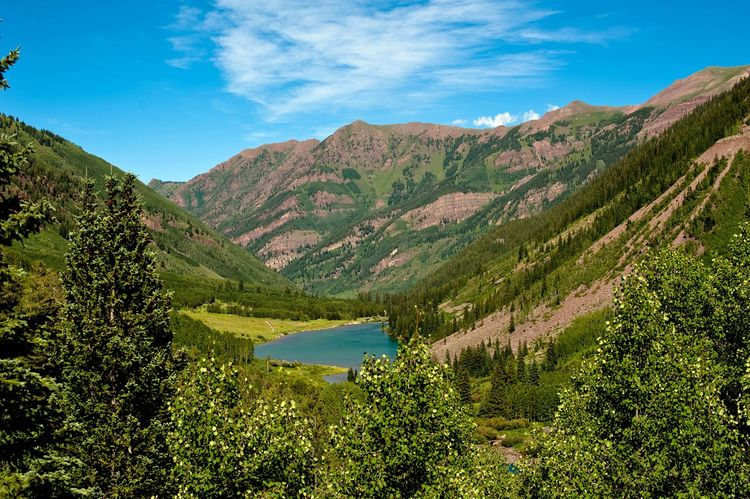 Been There. Colorado Beauty In Nature Blue Cloud - Sky Day Green Color Lake Landscape Mountain Mountain Range Nature No People Outdoors Plant Scenics Sky Tranquil Scene Tranquility Tree Water