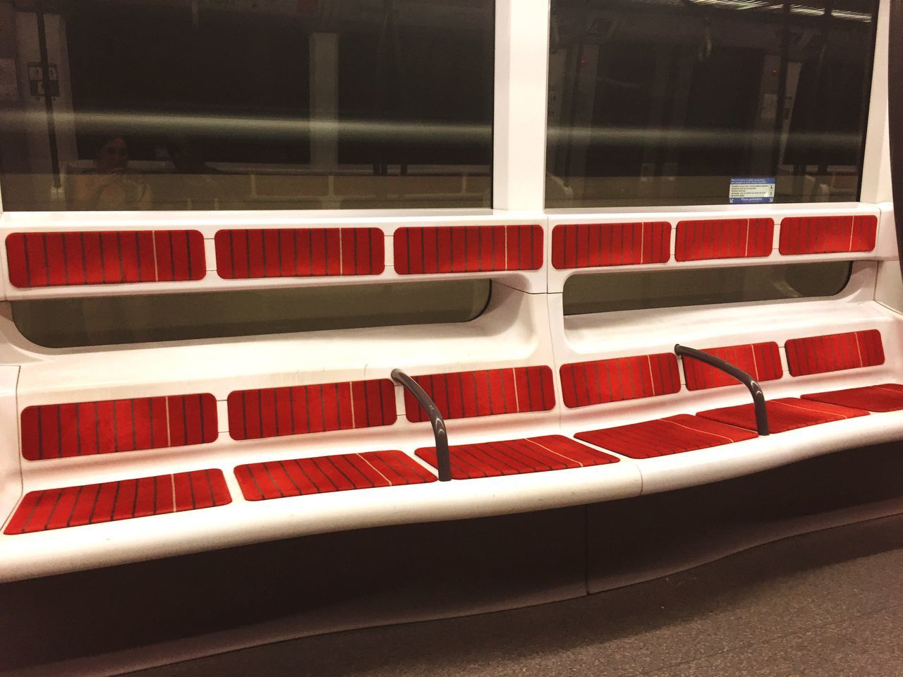 red, no people, window, seat, day, outdoors