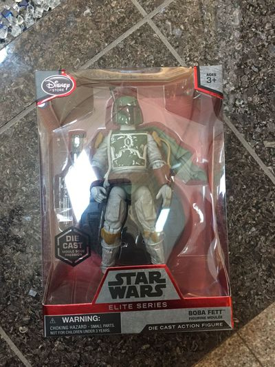 Disney store score today Boba Fett Disney Disneystore Star Wars Elite Series