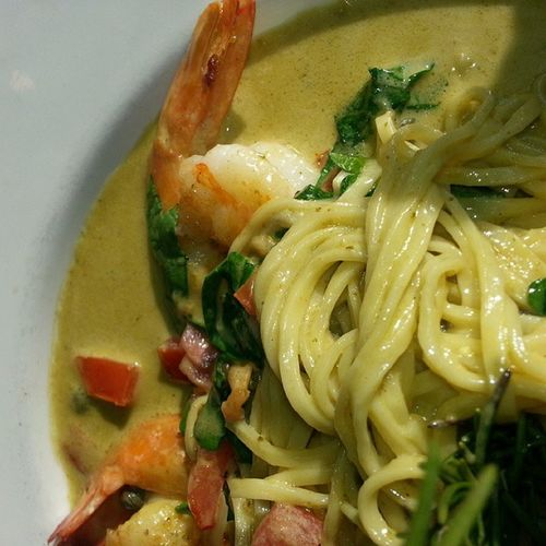 Yum with @traciroxanne Shrimp Scampi Georgetown