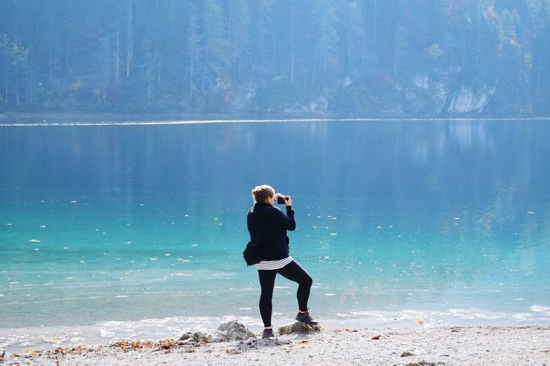 Photographing tovel lake Italy Lake One Person Full Length Water Nature Lifestyles Beach Sea Standing Adult Beauty In Nature Child Outdoors Day Scenics - Nature Contemplation Land Sky Men Looking My Best Photo