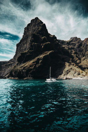 //That Outdoors Discoverearth Nature Teide Tenerife Island Boat Outdoors Tenerife Los Gigantes Discoverer Water Sailing Ship Nautical Vessel Astrology Sign Sea Mountain Tall Ship Yacht Beach Sailboat Stack Rock Rock Formation Seascape Rocky Mountains Coast Rocky Coastline The Great Outdoors - 2018 EyeEm Awards EyeEmNewHere