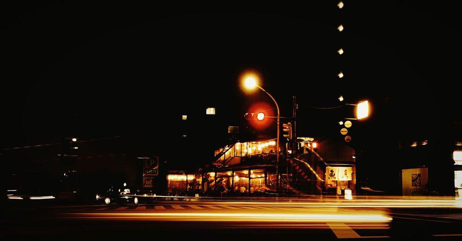 Overnight Success Night Road Street Illuminated Transportation City Street Dark Outdoors Lit City Life Tail Light Lighting Equipment Japan Culture The City Light Paint The Town Yellow The Week On EyeEm