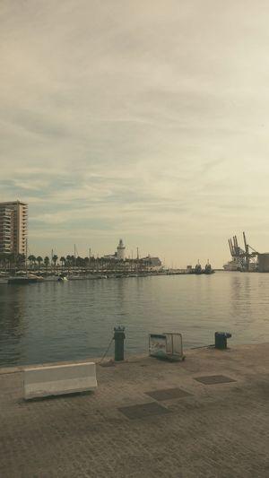 Puerto de Málaga Harbour Sea Sunset Clouds