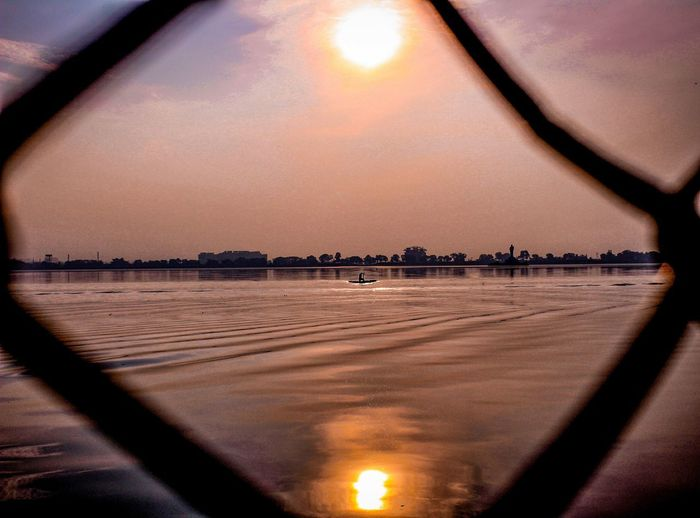 Sky Sunset Transportation Mode Of Transportation Nature Reflection No People Water Sun Cloud - Sky Transparent Glass - Material Outdoors Airplane Window Vehicle Interior Air Vehicle Car Travel