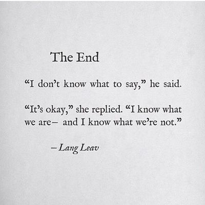 The end :/ Langleav Theend