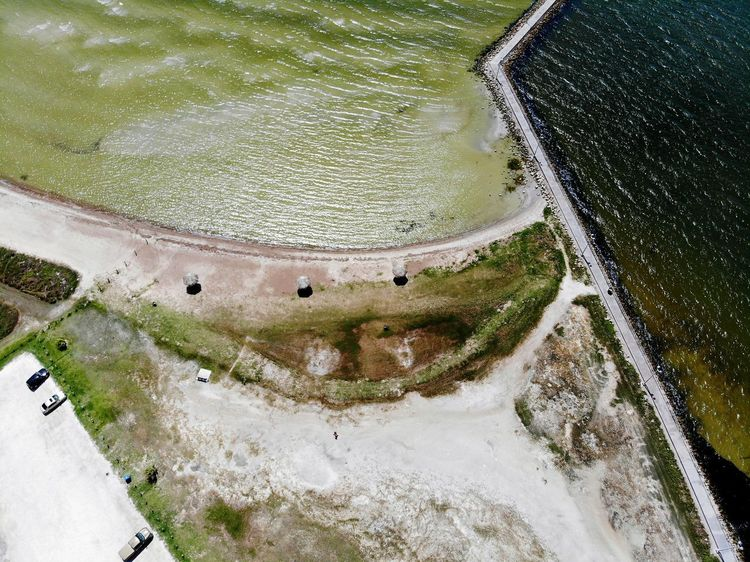 tourism destination Aeria Ways Of Seeing Tourism Destination Aeriel Photo Dronephotography Ocean Oceanside Ocean View Gulf Gulf Of Mexico Gulf Coast Beach Photography Beach Sand Sandy Beach Wave Waves, Ocean, Nature Wake - Water Water High Angle View Aerial View Rippled Calm Ocean Waterfront Floating In Water Boat Floating
