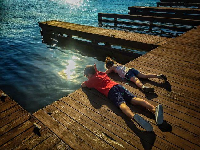 Solarflare Siblings ♡ Docks Dockside Lakeside Kids Kids Being Kids Lake Guntersville