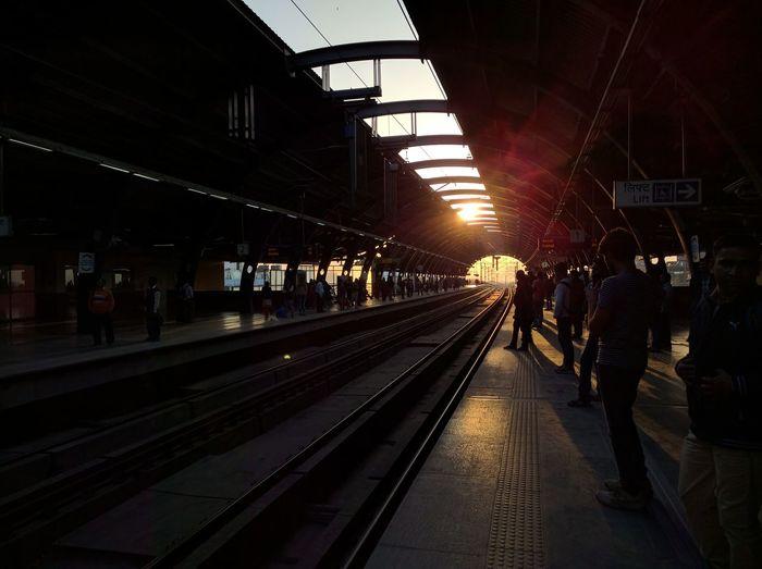 Don't let the light fade away. First Eyeem Photo Delhi, India DelhiMetro India Metro Station