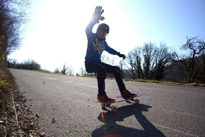 Skateboarding Longboarding Wideanglelens Sports Photography