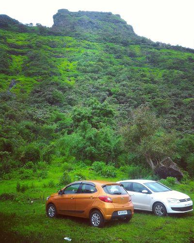 Polo VW Polo VW Tata Tiago Tikonafort TikonaTrek Mansoon Tata Tiago Parking Mountain Road