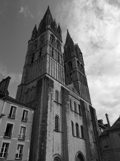Caen, France Church France Caen Historic Historical Politics And Government Clock Clock Face City History Business Finance And Industry Façade Tower Sky Architecture Brick