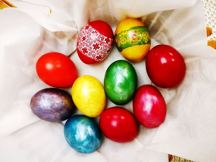Easter Background Easter Eggs Easter Ready Colored Eggs Painted Eggs EyeEm Selects Multi Colored Easter White Background Variation Red Candy Celebration Close-up Easter Egg Easter Egg Hunt