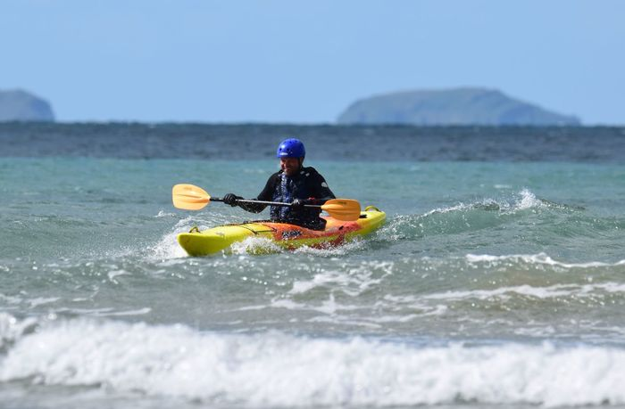 Coastal Life Kayaking Kayaking In Nature Newgale Wales April Showcase Coast Kayak Kayaking Is Fun Kayaks Paddle Paddling Pembrokeshire Pembrokeshire Coast Saftyfirst Sea Sea And Sky Sea Life Splash Sport Watersport Watersports Photography Wave Riding Waves Wetsuit