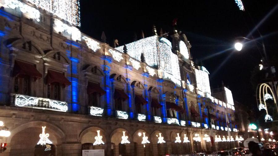 Christmaslights Christmas Lights Puebla De Zaragoza Taking Photos