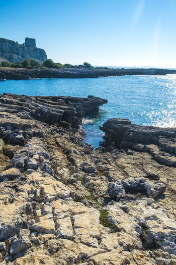 Beach Betterlandscapes Day Italy Nature No People Outdoors Porto Selvaggio Rocks Rocks And Water Salento Sand Sea Sky Sunlight Travel Destinations Tree Water