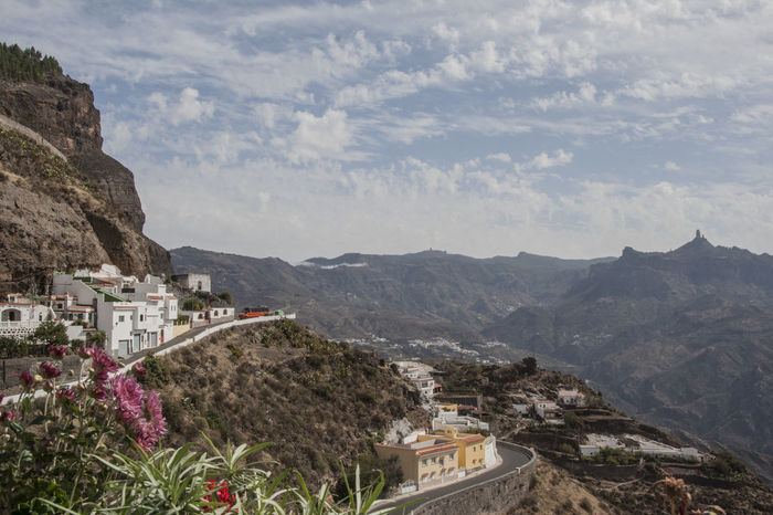 A small village, Artenara, by the mountains in Gran Canaria, Canary Islands, Spain. Architecture Beauty In Nature Landscape Mountain Mountain Range Nature No People Outdoors Scenics Travel Destinations