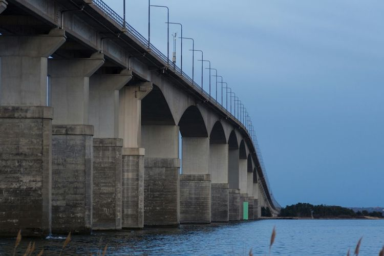 Low Angle View Of Oland Bridge Against Sky