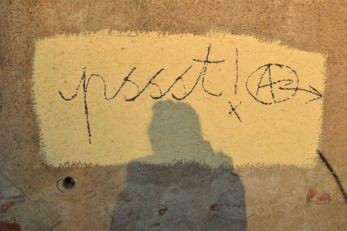 Psssst ! BackgroundGraffiti Shadow Selfie ✌ Barcelona SPAIN Q Be Quiet Be Quiet! Things I Like Showing Imperfection My Favorite Photo The Street Photographer - 2016 EyeEm Awards 43 Golden Moments The Mix Up Colour Palette Resist Paint The Town Yellow Love Yourself