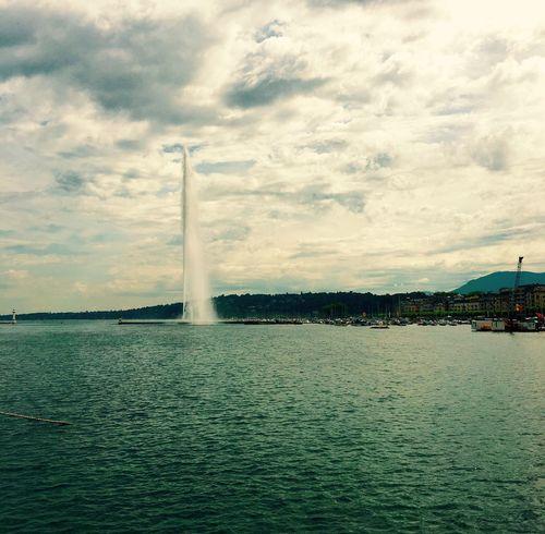 Lake View Lakeshore Switzerland Geneva Jet D'Eau De Genève Jet D'eau Lac