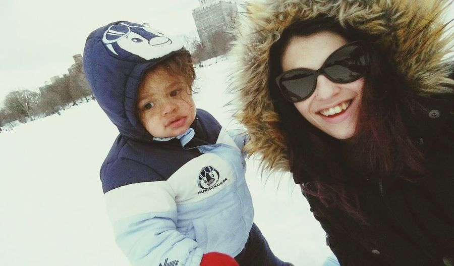 Hanging Out Enjoying Life My Son And I Growing Up Cutiepie Snow ❄ Snow Day Cheese!
