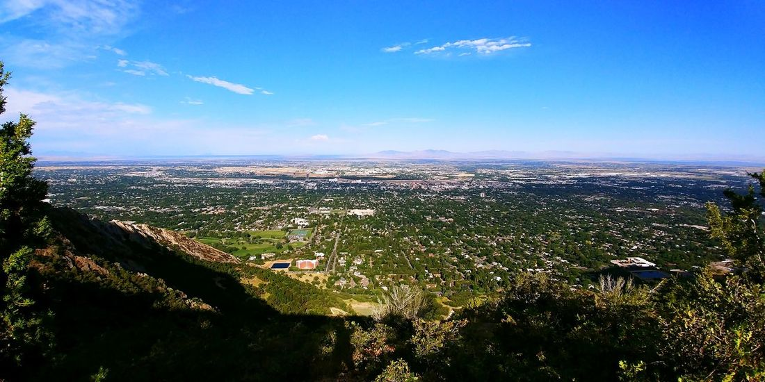 Sky Landscape No People Outdoors Day Scenics Nature City Beauty In Nature WasatchFront Wasatch Mountains Hikingadventures Summer Green Color Mountain Range View From The Mountain
