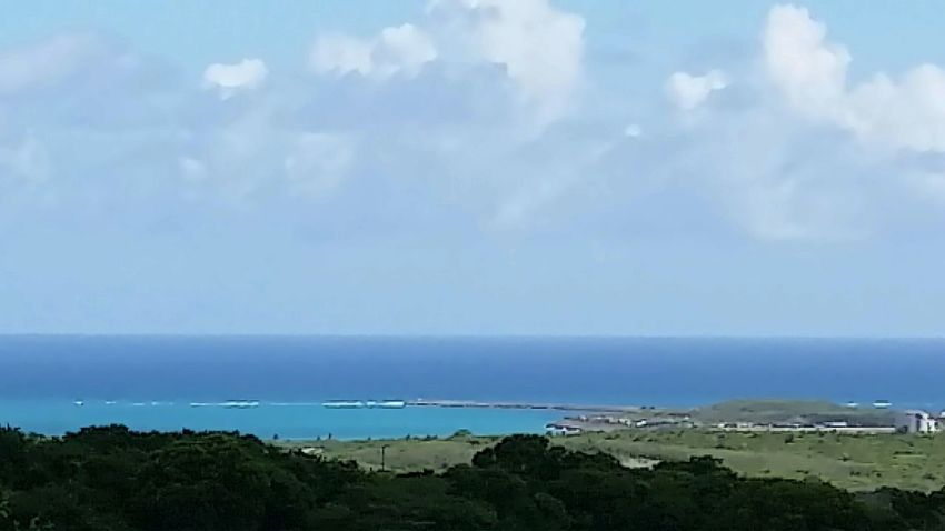 A view of the Caribbean Sea to the south. Sea Clouds And Sky @ Constitution Hill No Filters  No Color Enhancement