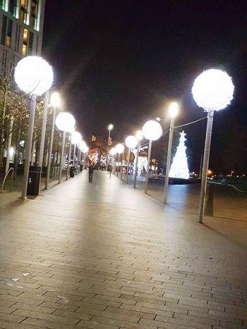 Illuminated Lighting Equipment Street Light Night City Business Finance And Industry No People Sky Clock
