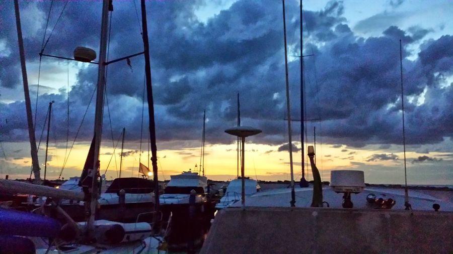 Boats⛵️ Cloud - Sky Day Nautical Vessel No People Outdoors Port Sailboat Sailing Sea Sea And Sky Seaside Shipyard Sky Sky And Clouds Sky Collection Sunrise Sunrise - Dawn Sunrise_Collection