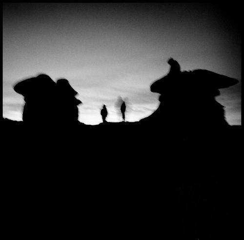 Heroes in the Sky 120 Mm Analogue Photography Fish Bowl Window Goblin Valley Heroes Locked Lomography Road Silhouette Travel Utah Utah Desert Utah Scenery Utah Skies Adventure Black And White Bowl Desert Mountains Gang Of Four Goblin Valley Sunrise Medium Format Men In Desert Mystique Shaken