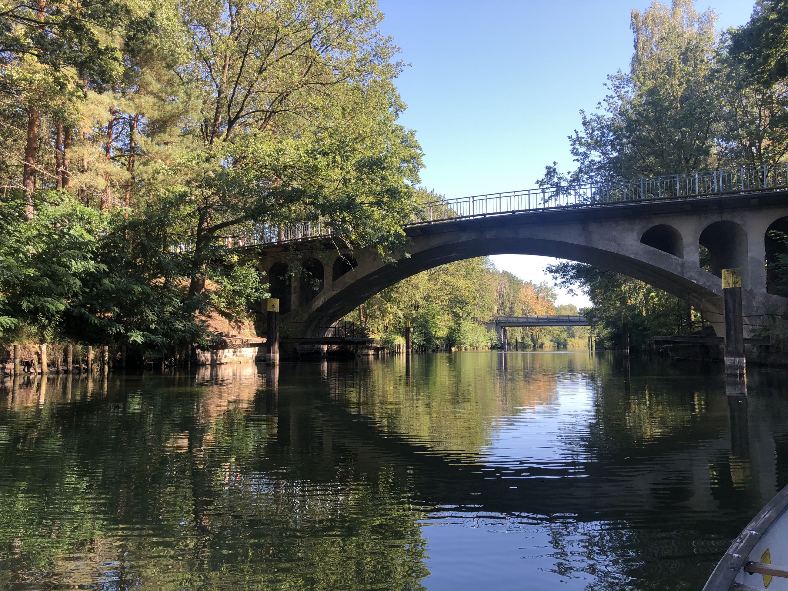 water, bridge, connection, tree, bridge - man made structure, reflection, plant, built structure, architecture, arch, river, transportation, nature, waterfront, day, arch bridge, no people, sky, outdoors