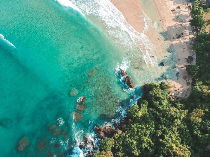 Into the deep. Water Sea Day High Angle View Nature Turquoise Colored Beauty In Nature Swimming Aerial View Sunlight Scenics - Nature Tranquility