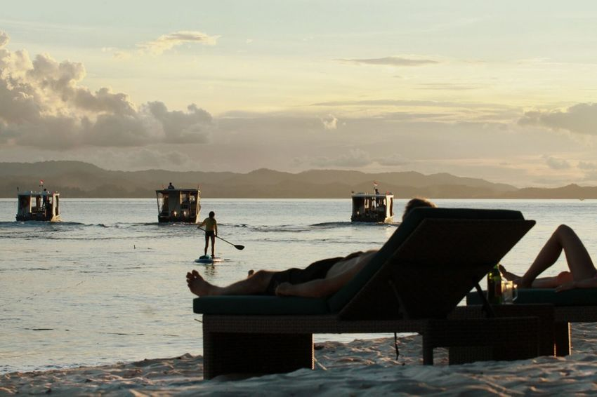 Sea Beach Water Travel Destinations Horizon Over Water Outdoors Sunset Wave Mountain Nautical Vessel Day Sky Done That. Paddleboarding Paddle Boats Lazy Chair