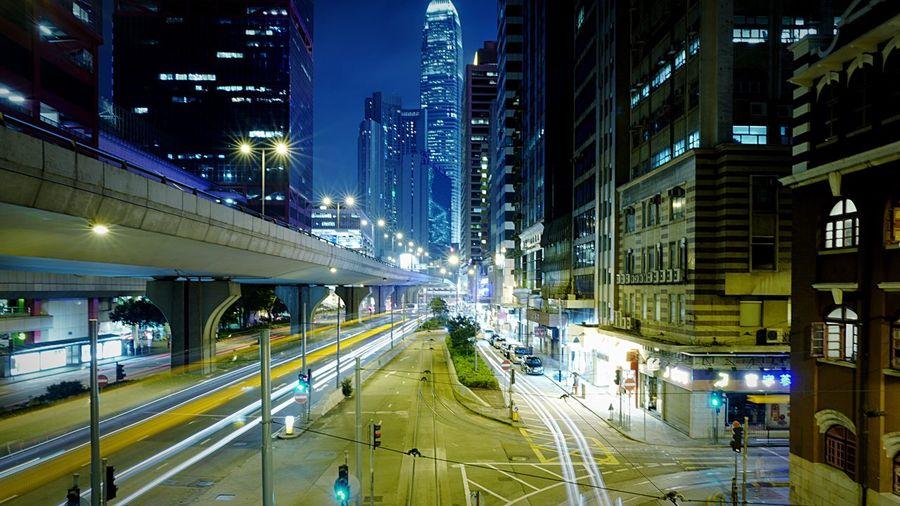 Long Exposure at Sheung Wan HongKong Discoverhongkong Leica Leicaq Nightphotography Streetphotography Night Lights Light And Shadow Long Exposure EyeEm Best Shots 香港 夜景