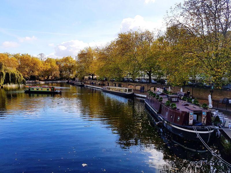 Little Venice London Houseboats Maida Vale Autmn London Autmn Colors