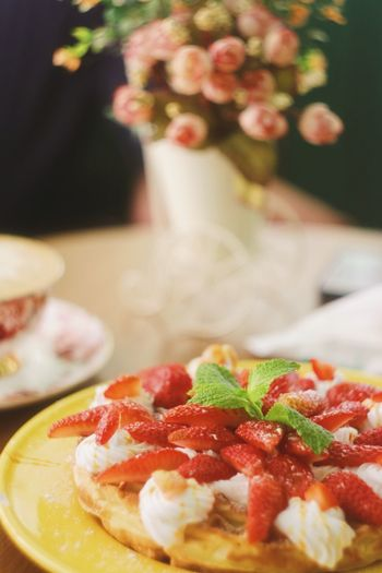 Food And Drink Food Freshness Indoors  Sweet Food Ready-to-eat Healthy Eating Strawberry Fruit