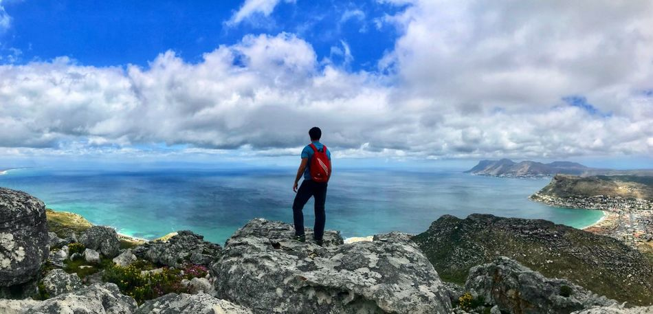 Sea Rock - Object Horizon Over Water Scenics Water Nature Real People Sky Standing Beauty In Nature One Person Cloud - Sky Leisure Activity Full Length Day Men Outdoors Tranquil Scene Lifestyles Tranquility Mountain Silvermine Nature Reserve Accent Hiking