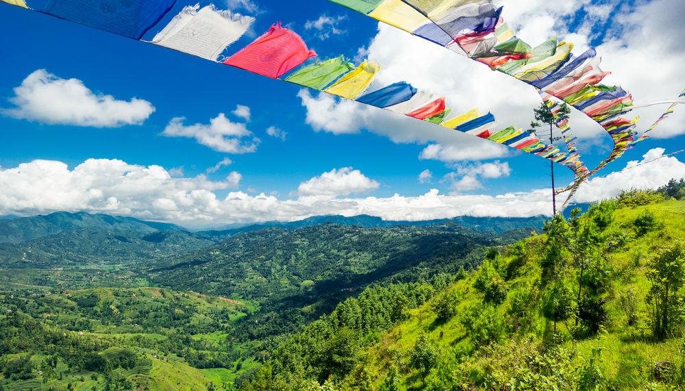 ASIA Kathmandu Nepal Beauty In Nature Bunting Cloud - Sky Day Flag Hanging Katmandu Landscape Mountain Mountain Range Multi Colored Nature No People Outdoors Plant Scenics Sky Tree
