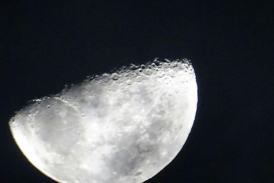 una linda luna, una hermosa noche !!!