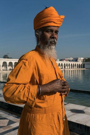 ANANDPURSAHIB Anandpur Sahib Everyday Lives India Punjab Travel Travel Photography Day One Person Outdoors Real People Standing Street Photography Sunlight Turban