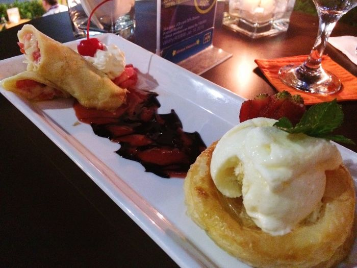Tropical Fruit Crepes with Rum Sauces